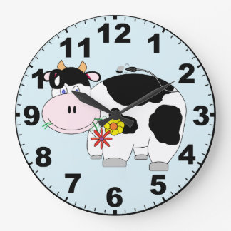 Cute Cow Clock with Numbers