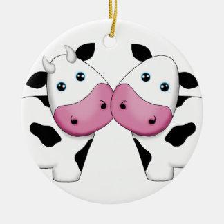 Cute Cow Couple Ornament
