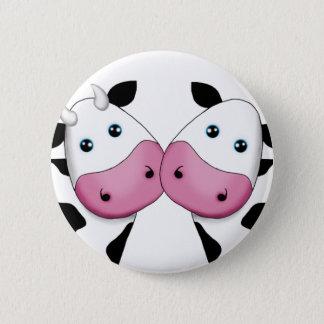 Cute Cow Couple Pinback Button