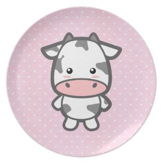 Cute Cow Dinner Plate