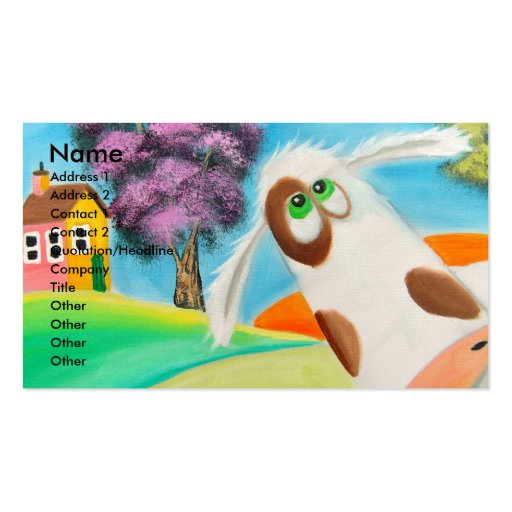 CUTE COW FACE Gordon Bruce art Business Card Templates