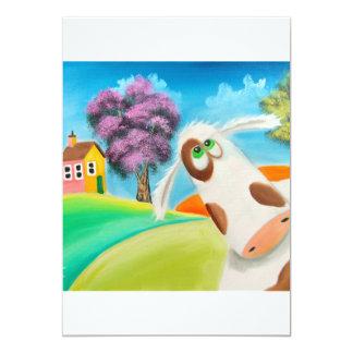 CUTE COW FACE Gordon Bruce art Card