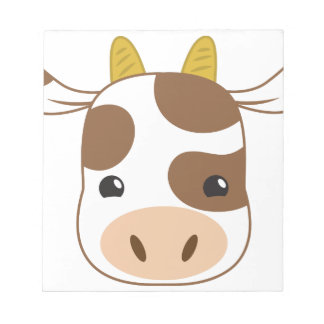 cute cow face notepad
