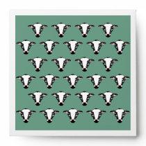 Cute Cow Face Pattern Envelope