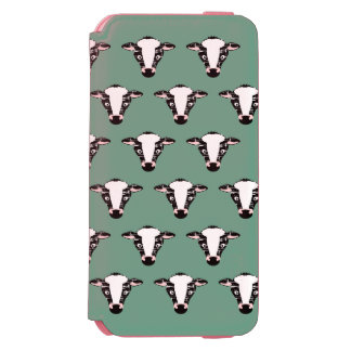 Cute Cow Face Pattern iPhone 6/6s Wallet Case