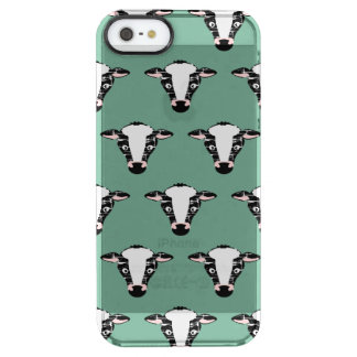 Cute Cow Face Pattern Uncommon Clearly™ Deflector iPhone 5 Case