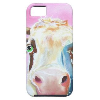 Cute cow face portrait painting iPhone SE/5/5s case