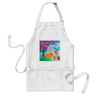 Cute cow folk art painting Gordon Bruce Adult Apron