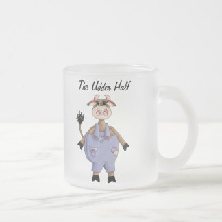 Cute Cow Frosted Glass Coffee Mug
