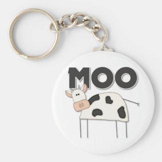 Cute Cow Gift Basic Round Button Keychain
