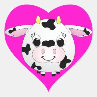 Cute Cow Heart Sticker