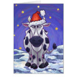 Cute Cow Holiday Card