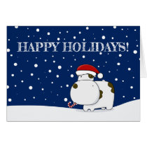 Cute Cow Holiday Christmas Card