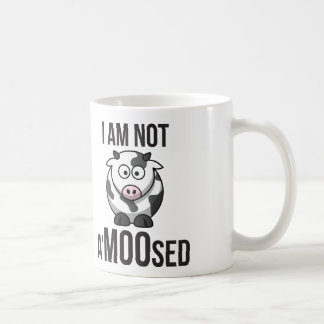 Cute Cow - I Am Not A'MOOsed Coffee Mug
