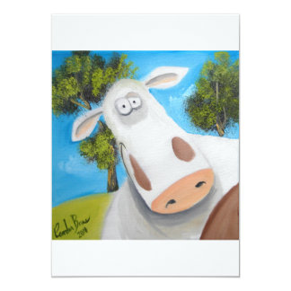 CUTE COW ILLUSTRATION CARD