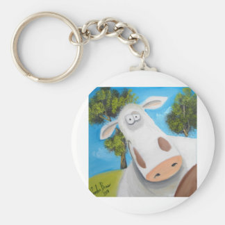 CUTE COW ILLUSTRATION KEYCHAIN
