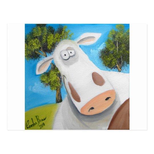 CUTE COW ILLUSTRATION POSTCARD