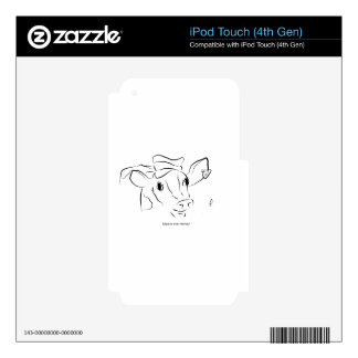 Cute Cow iPod Touch 4G Decals