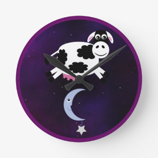Cute Cow Jumped over the Moon Clock