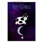 Cute Cow Jumped Over the Moon Halloween Cards
