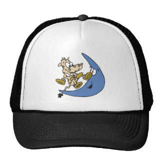 cute cow jumping over moon trucker hat