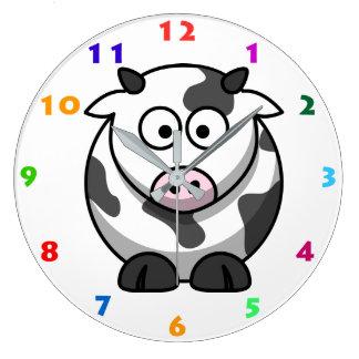 CUTE COW Kids Wall Clock
