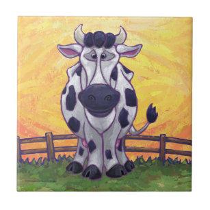 Cute Cow Kitchen Accessories Tile