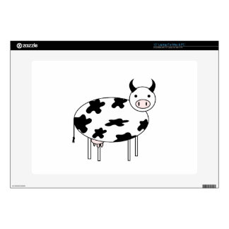 Cute Cow Laptop Decals