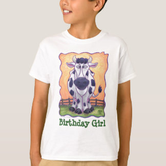 Cute Cow Party Birthday Girl T-Shirt