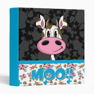 Cute Cow Pattern Avery Binder