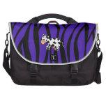 Cute cow purple zebra stripes commuter bags