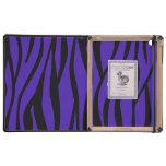Cute cow purple zebra stripes covers for iPad