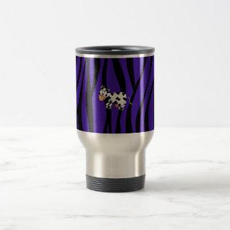 Cute cow purple zebra stripes mug