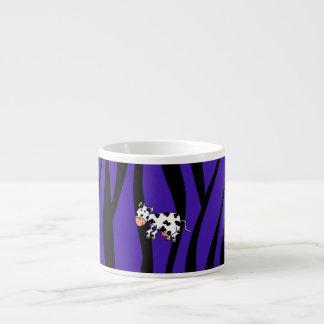 Cute cow purple zebra stripes espresso cups