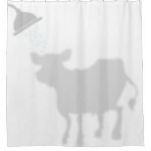 Cute Cow Shadow Silhouette Buddies Shower Curtain