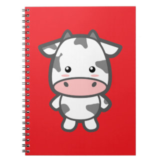 Cute Cow Spiral Notebook