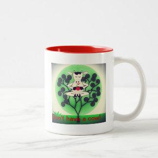 Cute Cow Two-Tone Coffee Mug