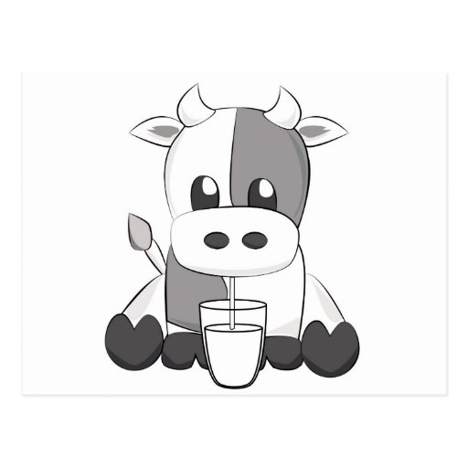 Cute cow - Vaquinha fofa Postales