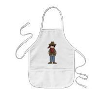 Cute Cowboy 4 Kids' Apron
