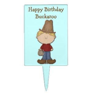 Cute Cowboy Birthday Cake Topper a05ee5e2b860