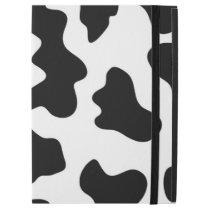 "cute cowboy black and white farm cow print iPad pro 12.9"" case"