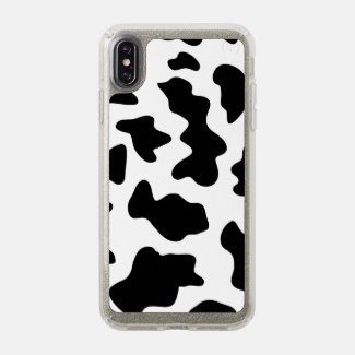 Cute Black and White Cow Print iPhone Case