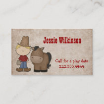Cute Cowboy Custom Playdate Card