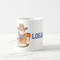 Cute Cowboy on Rocking Horse Personalized Mug