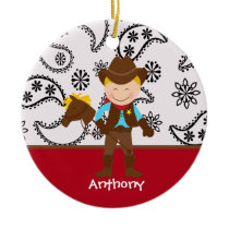 Cute Cowboy  Ornament