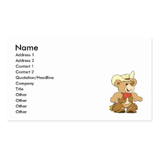 Cute Cowboy Rancher Bear Business Card