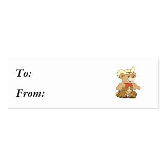 Cute Cowboy Rancher Bear Mini Business Card