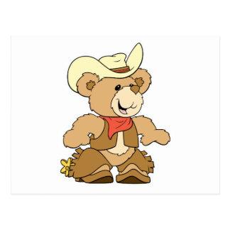 Cute Cowboy Rancher Bear Postcard