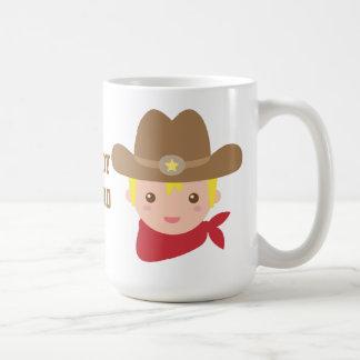 Cute Cowboy Sheriff Star Hat Personalized Mug