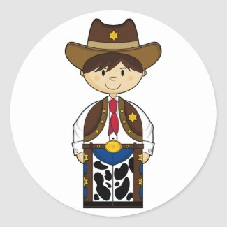 Cute Cowboy Sheriff Sticker sticker